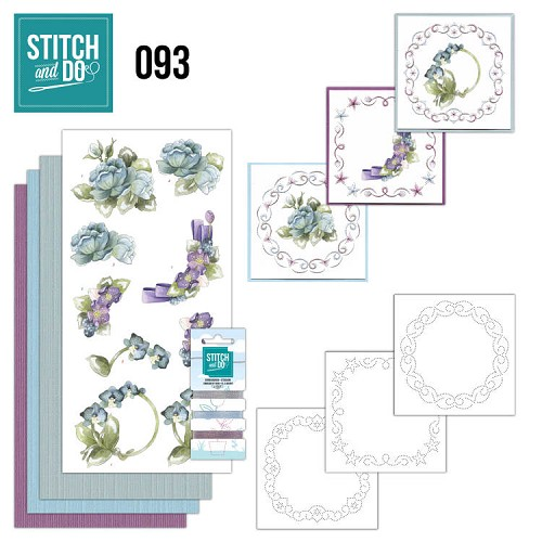 Card Deco - Stitch and Do - Borduurset  93 - Winterflowers