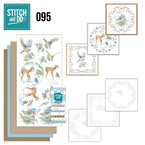 Card Deco - Stitch and Do - Borduurset  95 - Winter Woodland