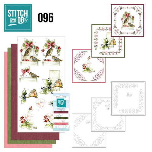 Card Deco - Stitch and Do - Borduurset  96 - Winter Birds
