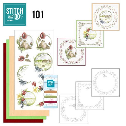 Card Deco - Stitch and Do - Borduurset  101 Spring life