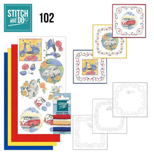 Card Deco - Stitch and Do - Borduurset  102 Oldtimers