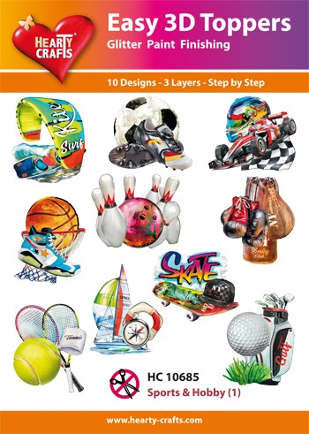 Hearty Crafts - Easy 3D Toppers - Sports & Hobby 1