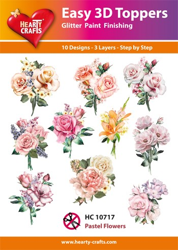 Hearty Crafts - Easy 3D Toppers - Pastel Flowers