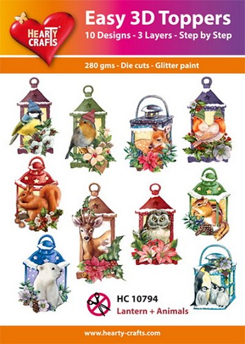 Hearty Crafts - Easy 3D Toppers - Lantern and Animals