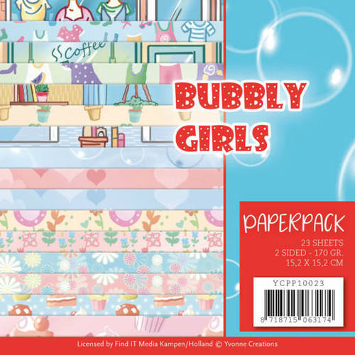Yvonne Creations - Paperpack - Bubbly Girls