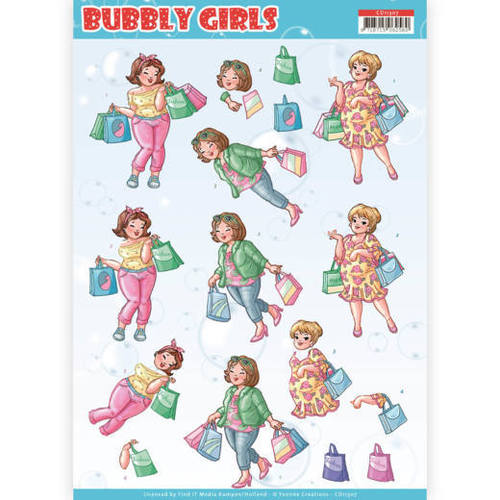 Yvonne Creations - 3D knipvel - Bubbly Girls - Shopping