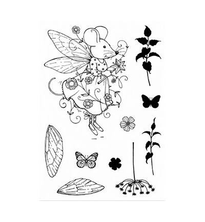 Pink Ink Design - Clearstamp - Fairy Mouse