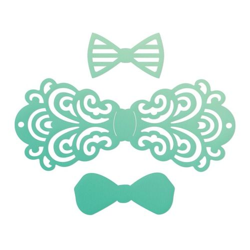 Couture Creations - Die - Filigree Bow Tie Set