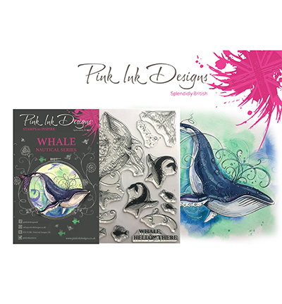 Pink Ink Design - Clearstamp - Whale