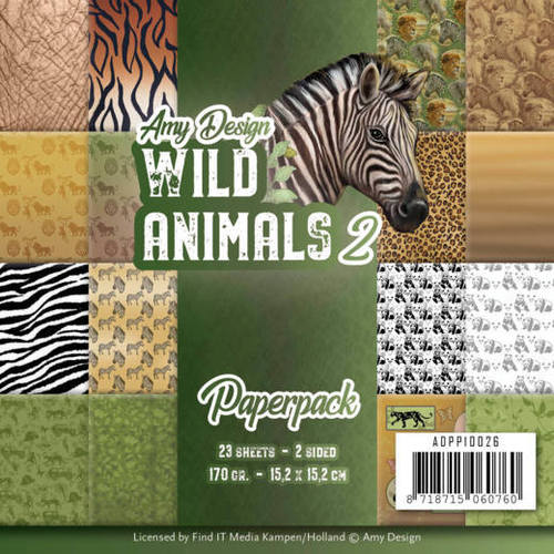 Amy Design - Paperpack - Wild Animals 2
