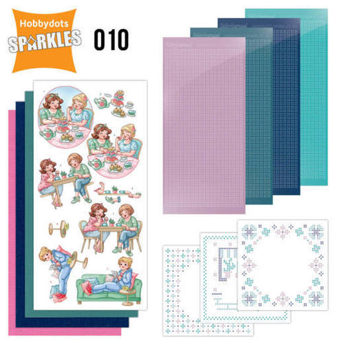 Card Deco - Sparkles - Set 10 Bubbly Girls