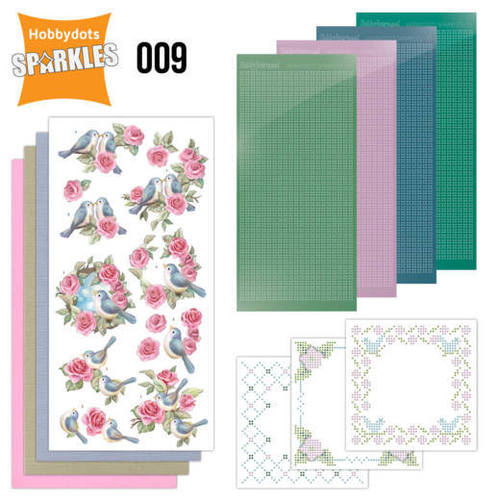 Card Deco - Sparkles - Set 9 Birds and Roses