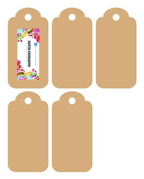 Dutch Doobadoo - Dutch MDF Art - Tags 5x