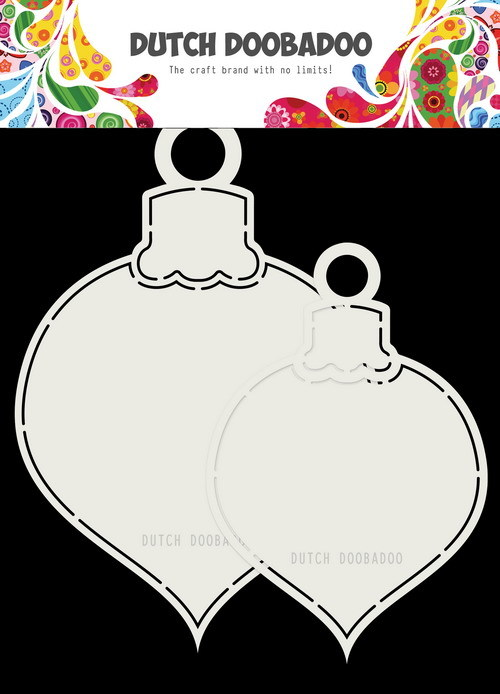Dutch Doobadoo - Shape Art - 2x Kerstballen 13 x 19
