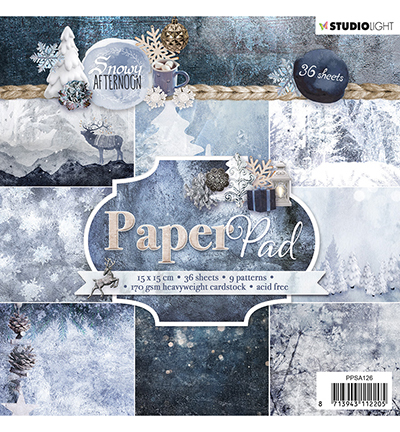 Studio Light - Paper Pad - Snowy Afternoon - PPSA126