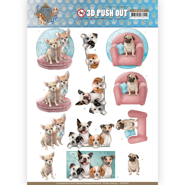 Amy Design - Pushout - Dog's Life - All Kind of Dogs