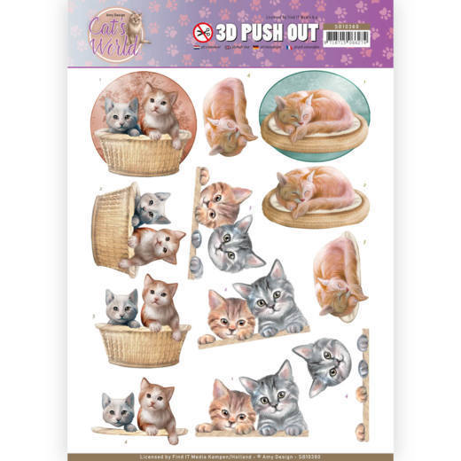 Amy Design - Pushout - Cat's World - Kittens