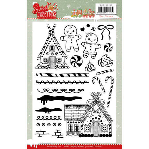 Yvonne Creations - Clearstamp - Sweet Christmas