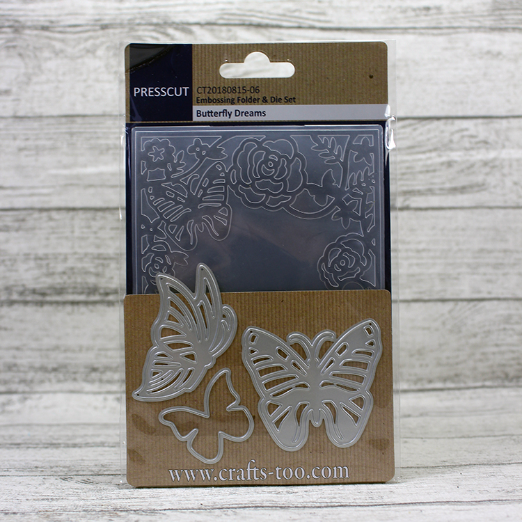 Presscut - Embossing Folder & Die Set - Butterfly Dreams