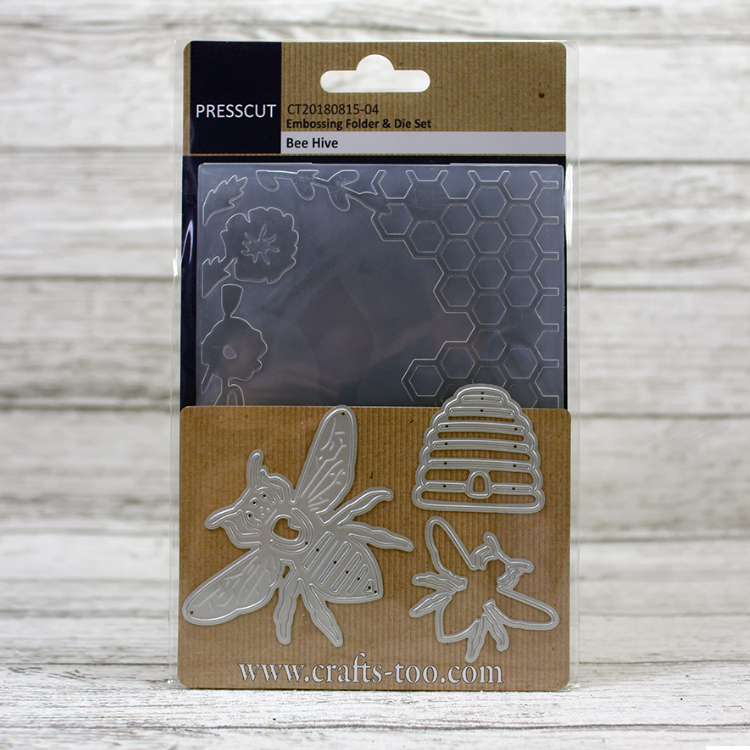 Presscut - Embossing Folder & Die Set - Bee Hive
