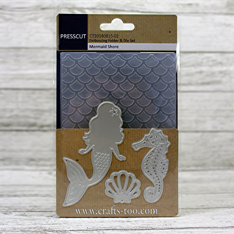 Presscut - Embossing Folder & Die Set - Mermaid Shore