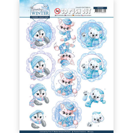 Yvonne Creations - Push Out - Sparkling Winter - Winter Friends