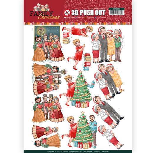 Yvonne Creations - Push Out - Family Christmas - Celebrate Christmas