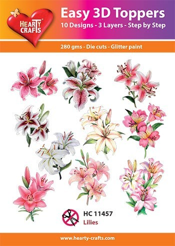 Hearty Crafts - Easy 3D Toppers - Lilies