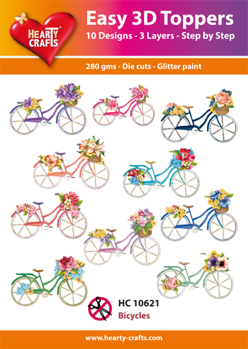 Hearty Crafts - Easy 3D Toppers - Bicycles