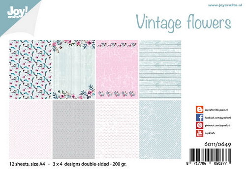 Joy!Crafts - Papierset - Vintage Flowers
