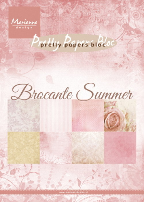 Marianne Design - Pretty Papers Bloc - Brocante Summer