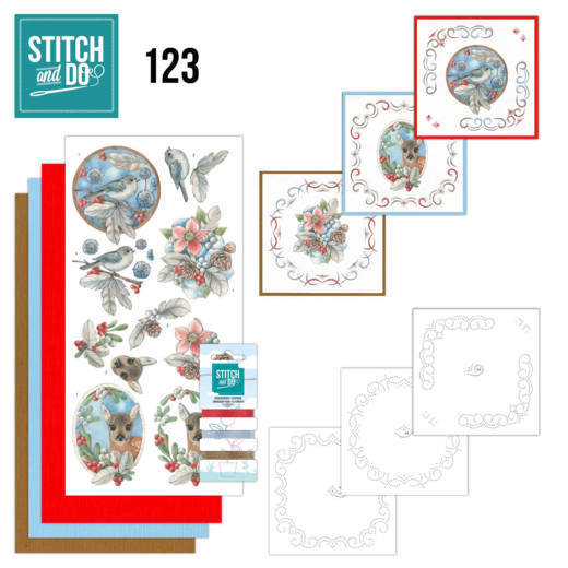 Card Deco - Stitch and Do - 123 - Berries and Feathers