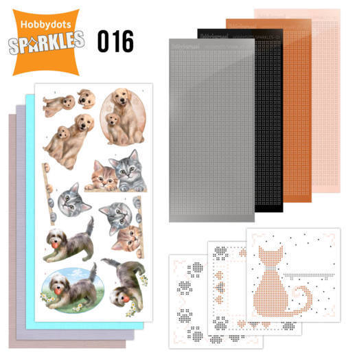Card Deco - Sparkles - Set 16 Cats and Dogs
