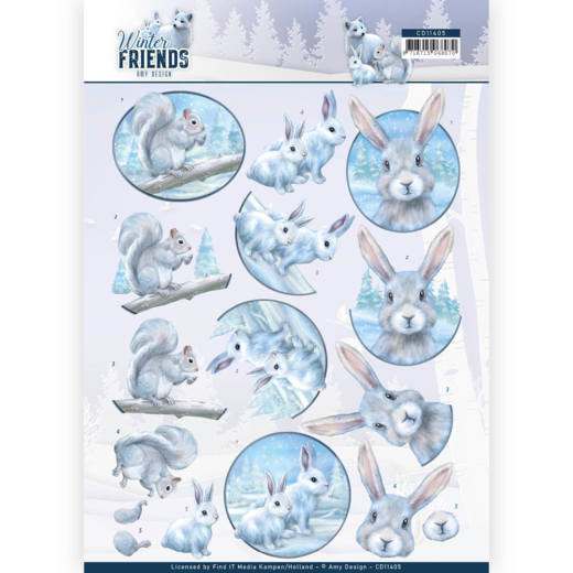 Amy Design - 3D Knipvel - Winter Friends - Arctic Friends