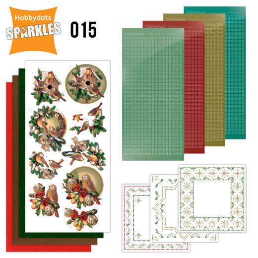 Card Deco - Sparkles - Set 15 - Christmas in Gold