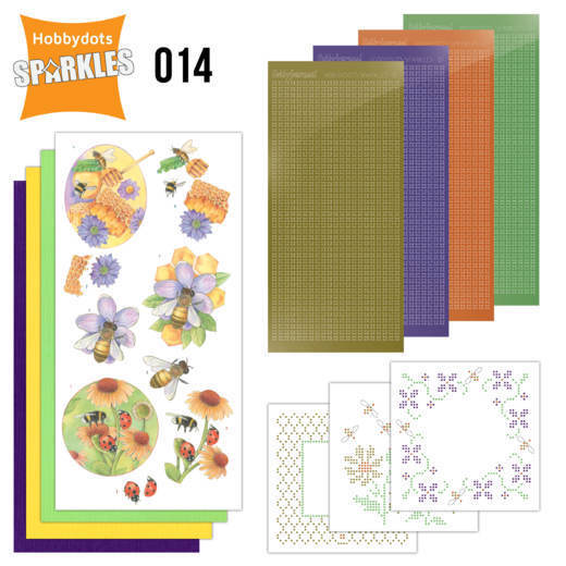 Card Deco - Sparkles - Set 14 - Buzzing Bees