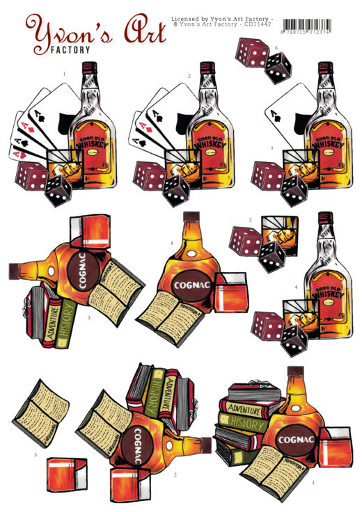 Yvon's Art - Knipvel - Cognac and Whiskey