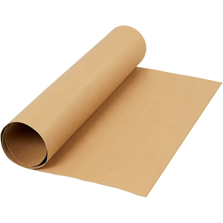 Faux Leather Paper - rol 50x100 lichtbruin