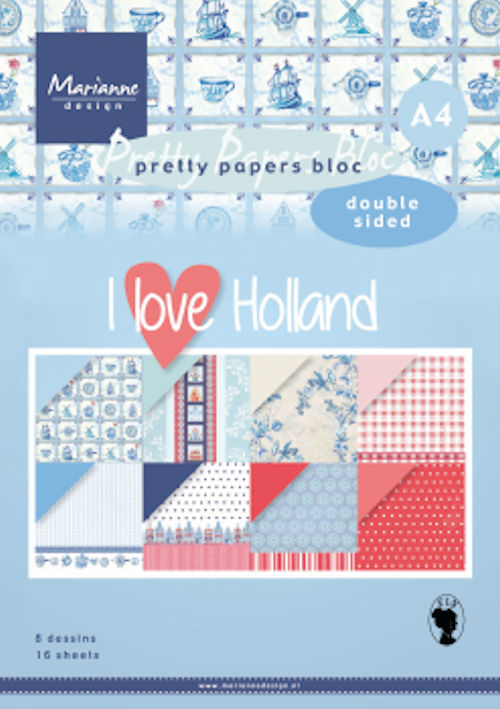 Marianne Design - Pretty Papers Bloc - DZ I love Holland