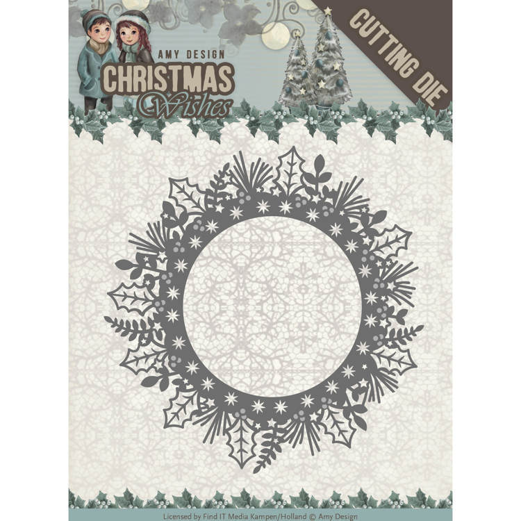 Amy Design - Die - Christmas Wishes - Holly Wreath