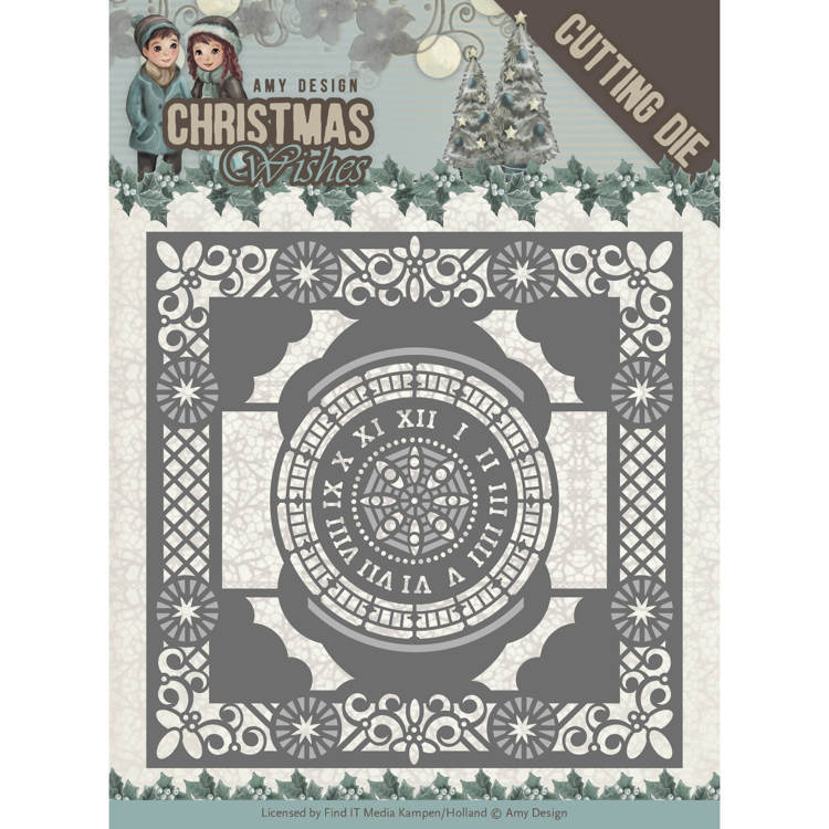 Amy Design - Die - Christmas Wishes - Twelve O'clock Frame
