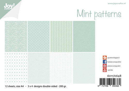 Joy!Crafts - Papierset - Mint Patterns