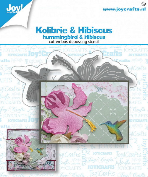 Joy!Crafts - Die - Kolibrie en Bloem