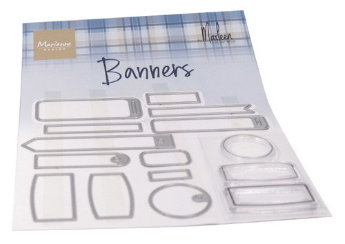 Marianne Design - Clearstamp - Banners By Marleen
