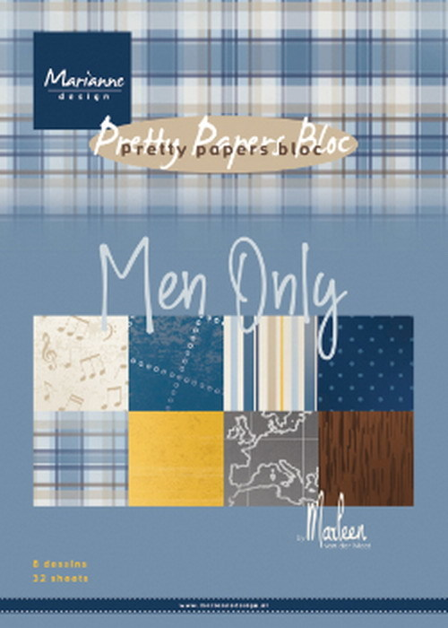 Marianne Design - Pretty Papers Bloc - Men Only By Marleen