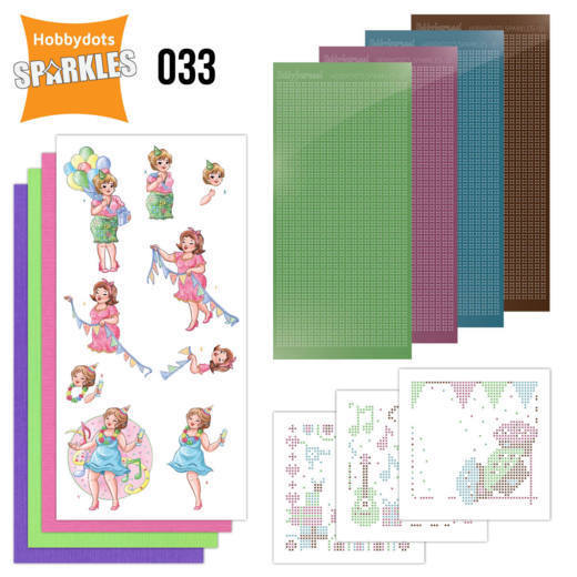 Card Deco - Sparkles - Set 33 Bubbly Girls - Party