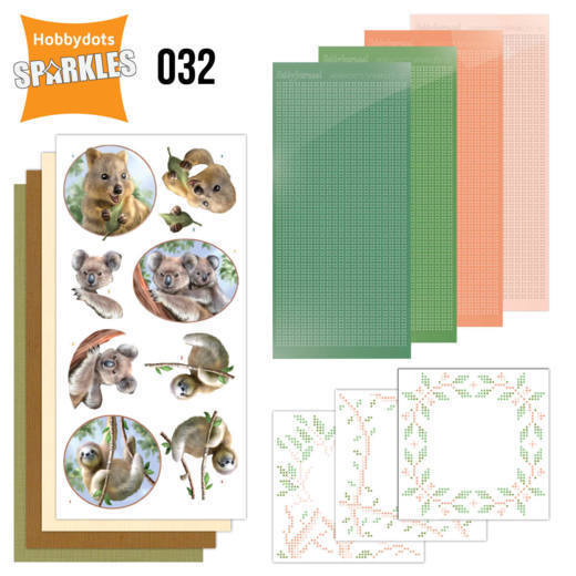 Card Deco - Sparkles - Set 32 Wild Animals - Outback
