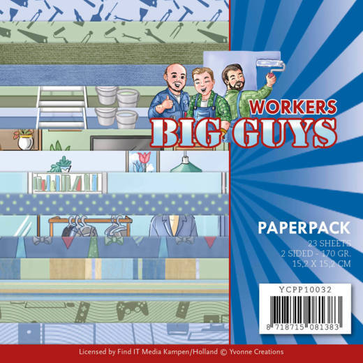 Yvonne Creations - Paperpack - Big Guys - Workers