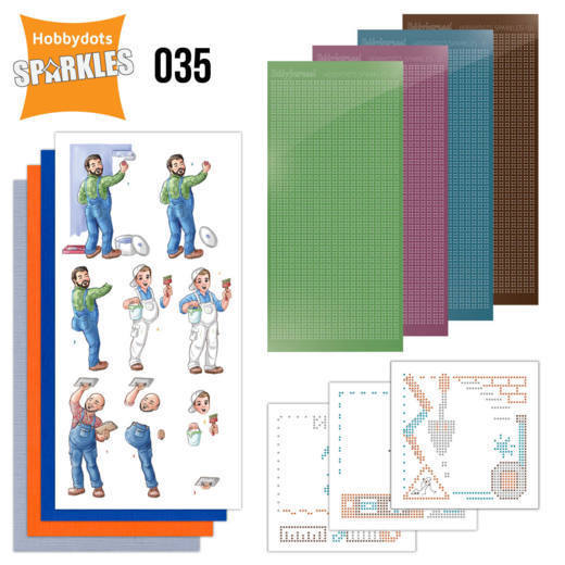 Card Deco - Sparkles - Set 35 Big Guys - Workers