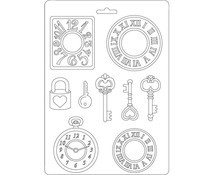 Stamperia - Soft Mold - A5 - Clocks and Keys